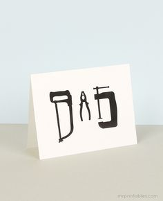 Happy father's day cards with gift tags - Mr Printables