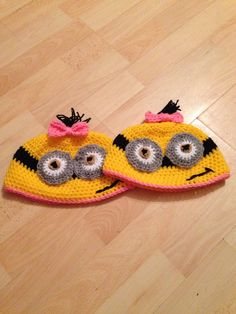 Girl minion inspired hats