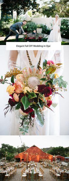 Elegant Fall DIY Wedding in Ojai