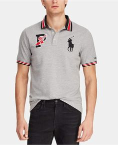 Polo Ralph Lauren Classic Fit P-wing Mesh Cotton Polo In Andover Heather Polo Rugby Shirt, Polo T Shirts, Camisa Polo, Casual Shirts For Men, Men Casual, Mens Designer Polo Shirts, Polo Ralph Lauren, Preppy Men, Dresses With Leggings