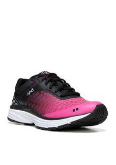 Ryka Black AthenaPink Indigo Running Shoe