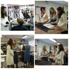 Kate meeting the costume designers and hair and makeup team on the Downton Abbey set