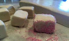 Marshmallows from scratch with the ever useful, ever resourceful and ever clever Thermomix as your handy tool in the kitchen...get them sorted. YUM.