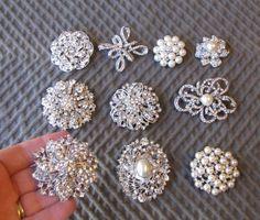 Lot of 10 rhinestone pearl brooch pin. Brooch by MadeForMeBridal