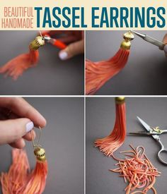 Learn how to make tassel earrings with an easy step-by-step guide. This DIY is easy to customized to suit your materials at hand, skills, and personality.