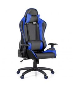 Mesh Leather Office Chair - Blue
