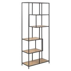 This 'Seaford' bookcase, with its distinctive yet functional design, will become the focal point of any room. Supported by steel frames, it has five shelves made from wood that are perfect for displaying your books and ornaments. 4 Shelf Bookcase, Large Bookcase, Wall Shelves, Shelving, Filigranes Design, Modern Design, Estilo Retro, Furniture Assembly, Home Accessories