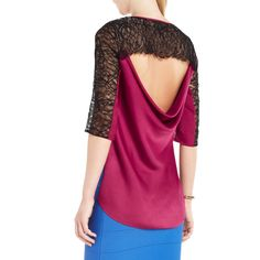 BCBGMAXAZRIA - ADDY LACE-TRIM TOP