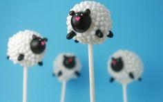 Sheep cake pops - OMG so cute
