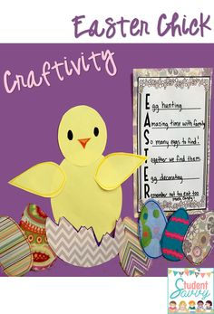 Adorable Spring Chick Craftivity! My students will love creating this!