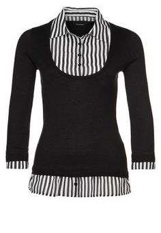 Strickpullover noir Denim Noir, Pulls, Cool Outfits, Blouse, Long Sleeve, Sleeves, Sweaters, Fashion, Fashion Styles