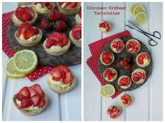 Experimente aus meiner Küche: Zitronen-Erdbeer-Tartelettes