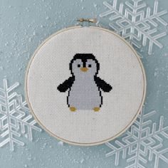 free penguin cross-stitch pattern More