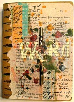 A blog full of art journaling techniques, Faber Castell