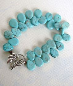Turquoise Bracelet Tears Natural Stone