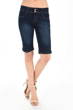 Dark Denim Bermuda Shorts
