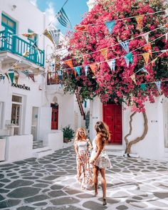 """11.2k Likes, 257 Comments - LISA HOMSY (@lisahomsy) on Instagram: """"Dancing through the streets of Mykonos with @travel_inhershoes Ps.. look how dirty our feet…"""""""