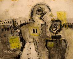 """""""Pintura_230"""" arte + arte = ?? ...!! Oil+Mixed 46x38cm. / Bernardo Guerra"""