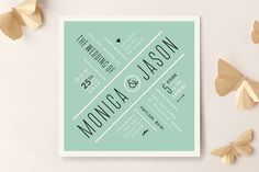 Divergence Wedding Invitations by Jennifer Wick at minted.com Don't forget personalized napkins for your special day! www.napkinspersonalized.com