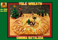 Sweet and That's it: Yule Wreath filled with Almond Paste - Sweeten filling more and add slightly more salt. Les and Tony liked, Jan, 2015 Almond Paste, Yummy Food, Delicious Recipes, Christmas 2016, Bread Baking, Yule, Brunch, Wreaths, Tutorials