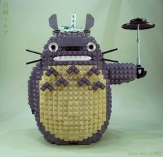 Lego Totoro. Awesome! (via @Madeline Fox Tompkins)