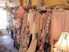 Vintage fabrics at Fetch in Historic Hillsborough, NC.