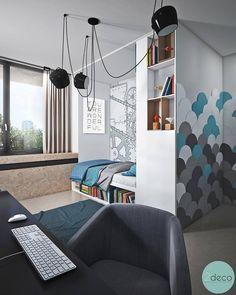 Kleines Teenager Zimmer Junge Moderne Einrichtung | Jugendzimmer | Pinterest