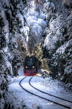 An old steam train somewhere in Russian Siberia Winter Szenen, Winter Magic, Train Tracks, Train Rides, Winter Photography, Nature Photography, Train Art, Old Trains, Train Pictures