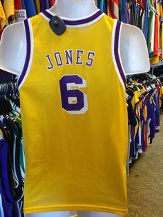 4e8e595ee11 Vintage  6 EDDIE JONES Los Angeles Lakers NBA Champion Jersey 14-16