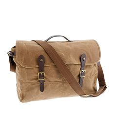 Abingdon messenger bag. OK, it's not leather. It is cool canvas, though.