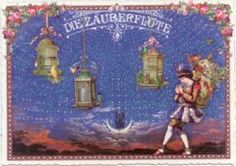 TAUSENDSCHÖN Die Zauberflöte Postkarte