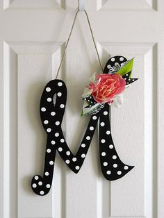 Wooden Letters for Door Decorations Wall Letters by BellaFrog, $27.00