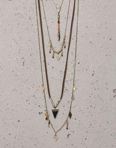 Bershka Turkey - Ethnic cord necklaces