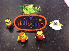 Halloween jumping clay minions