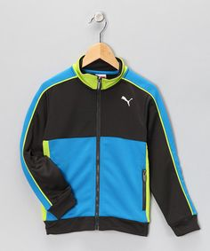 For the boy: Black & Blue Track Jacket from Puma on #zulily!