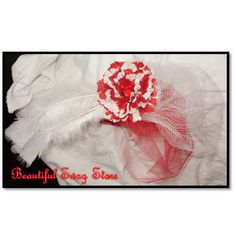 Wow! Red White Fascinator by beautifulswagstore on Etsy, $12.00