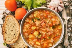 Κρεατόσουπα πικάντικη με ντομάτα λαχανικά και κριθαράκι - gourmed.gr