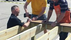 Deck Clinic on Saturday April 26, customers learned how to install Trex decking and hidden fasteners.
