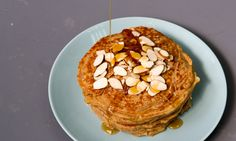 Quinoa Almond Pancakes Are a Gluten-Free, Refined Sugar-Free Brunch Victory — MyRecipes Almond Pancakes, Gluten Free Pancakes, Gluten Free Flour, Almond Recipes, Gluten Free Recipes, Sugar Free Vegan, Balanced Breakfast, Breakfast Recipes, Brunch