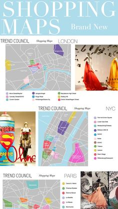 Trend Council:  Shopping Maps - LONDON NYC PARIS