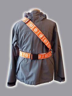 retro reflective fairisle sash/belt
