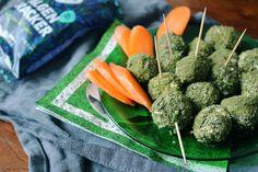 WM-Snacks: Chlorella-Fußbälle - Snacks für Fußballbegeisterte Carrots, Vegetables, Food, Healthy Snack Foods, Food Food, Recipies, Essen, Carrot, Vegetable Recipes