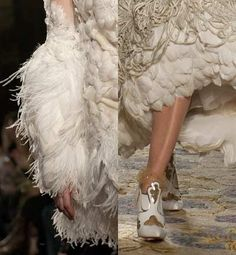 Marchesa, Plumas y mas PLumas Cisne blanco