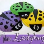 Paper Plate Lady Bugs
