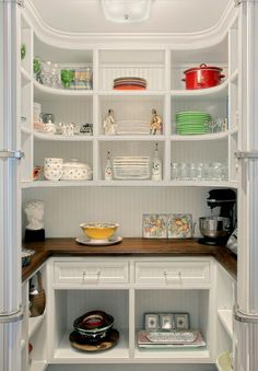 Pantry with counter for appliances and microwave   Home Ideas ... on