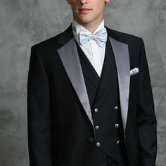 men couture tuxedos   Mens Designer 5 Piece Black Wedding Prom Tux Tuxedos Wedding SKU ...