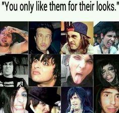 Oh yeah cuz I buy their album to listen to their fucking face, that makes sense