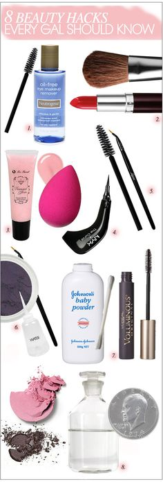 8 Makeup Hacks That Every Gal Should Know