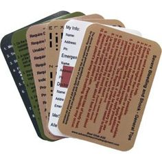 Survival Kit Information Stickers