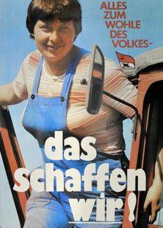 """❌❌❌ Das derzeit grassierende Merkel-Mantra hat einen längeren Bart als manch einer heute zu vermuten wagt. """"Wir schaffen das"""" wird in seiner Urform bereits 35 Jahre alt und Angela Merkel hat es aus ihrer sozialistischen Heimat mitgebracht, um auch uns im Kapitalismus noch mit dieser Weisheit zu erfreuen. Wir sind stolz auf unsere (Vor)Führerin, dass sie uns in unserm Leid nicht alleine lässt. ❌❌❌ #Merkel #Mantra #WirSchaffenDas #SED #DDR #Regime"""